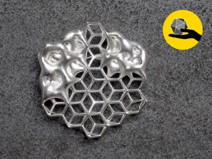 COGNITIVE HEXAGON / BROOCH